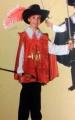 Kostüm Musketier rot 116