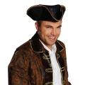 Kostüm-Zubehör Pirat Hut/Mütze Lederoptik