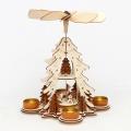Weihnachtspyramide Rehe und Futterkrippe