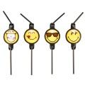 Smiley Emoticons Trinkhalme