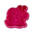 Präge-Ausstecher mit Auswerfer Schnecke, Kunstst. pink 6,5cm