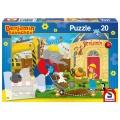 Puzzle Benjamin Blümchen - Auf der Baustelle 20 Teile