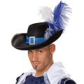 Kostüm-Zubehör Musketierhut schwarz-blau 60