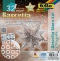 Folia Bastelset Bascettastern Sterngrafik weiss/kupfer