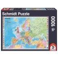 Puzzle Die Staaten Europas 1000 Teile