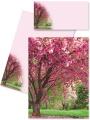 Briefpapier Briefmappe Kirschblüten