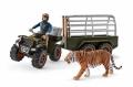 Schleich Wild Life Quad mit Anhänger und Ranger 42351