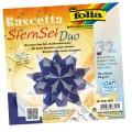 Folia Bastelset Bascettastern blau/silber 15 x 15 cm