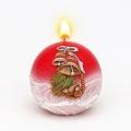 Weihnachtskerze Kugelkerze Glocke rot