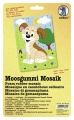 Moosgummi Mosaik Hund Kleben nach Zahlen