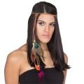 Kostüm-Zubehör Kopfband Federn bunt